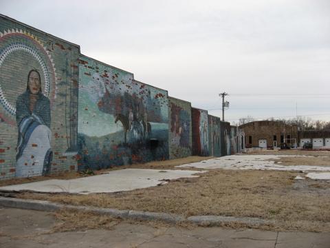Mural wall long shot