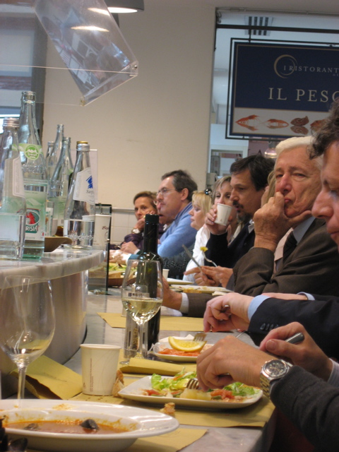 Eataly counter eating