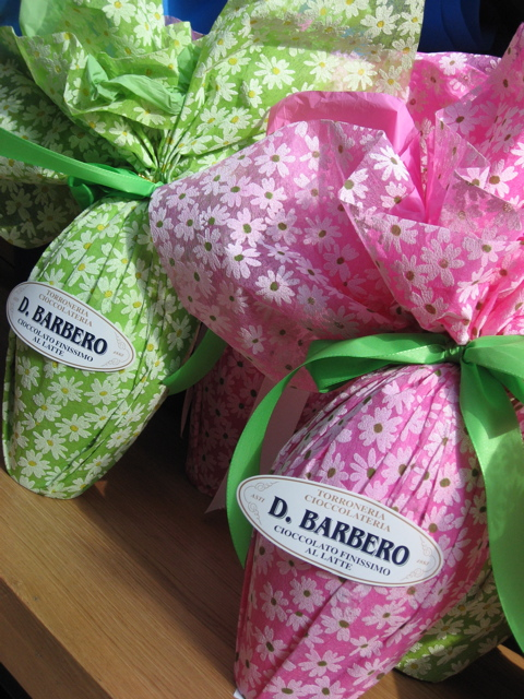 Eataly easter eggs close up