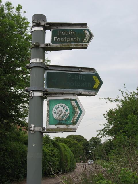 Walk public footpath sign