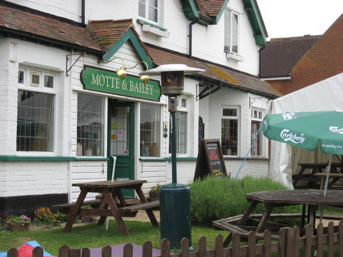 Walk motte and bailey pub