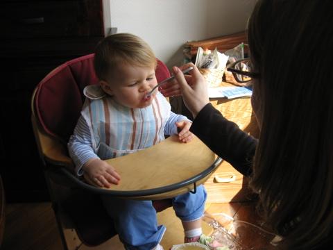 Lauren feeding rion