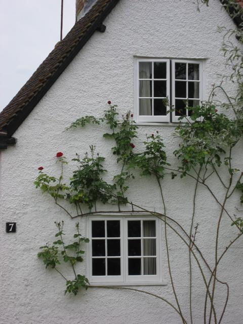 Walk gorgeous house white red