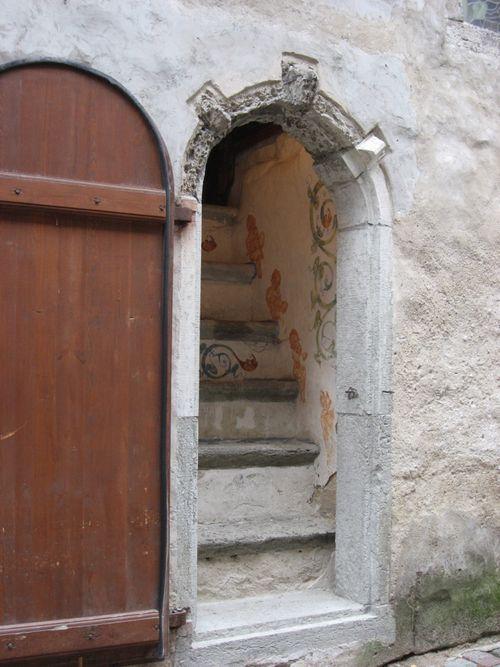Atal painted stairway long shot