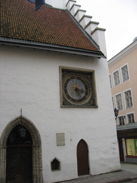 Atal clock in church