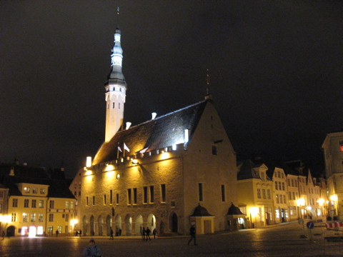 Atal town hall at night