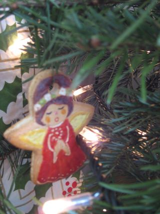 Tree cookie angel