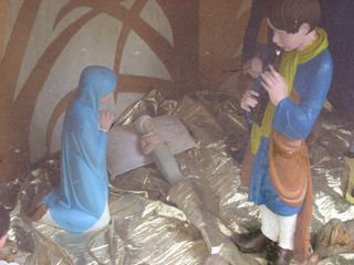 Creche with baby jesus