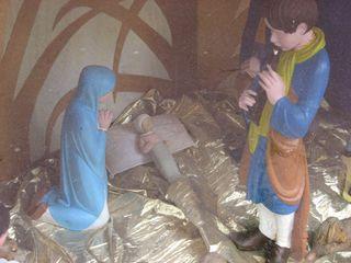Creche with baby jesus